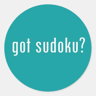 got sudoku? classic round sticker