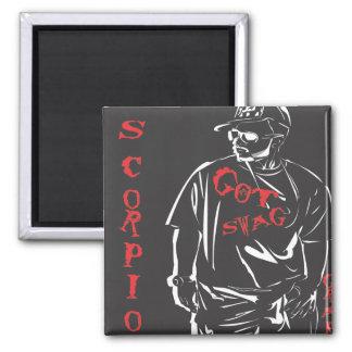 Got swag scorpio red 2 inch square magnet