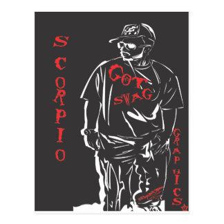 Got swag scorpio red postcard