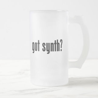 got synth? frosted glass beer mug