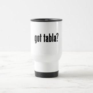got tabla? 15 oz stainless steel travel mug