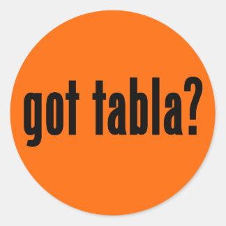 got tabla? classic round sticker
