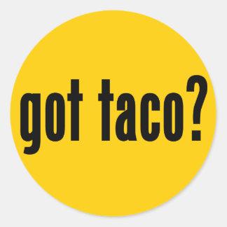 got taco? classic round sticker