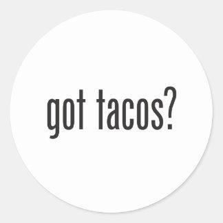 got tacos classic round sticker