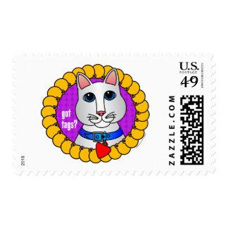 Got Tags?-Cat Postage