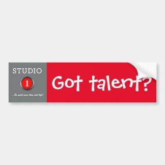 Got talent? bumper sticker