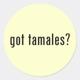 got tamales round stickers