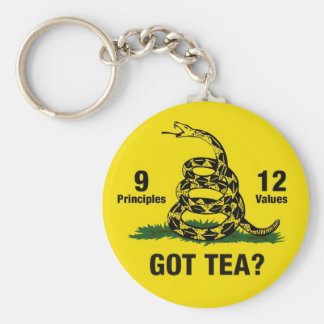 Got Tea? Don't Tread On Me 9-12 Basic Round Button Keychain