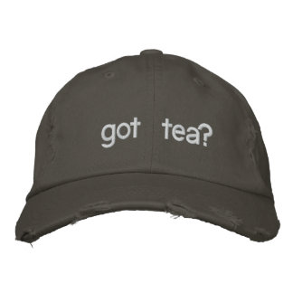 got tea? Funny Political Embroidered Baseball Hat