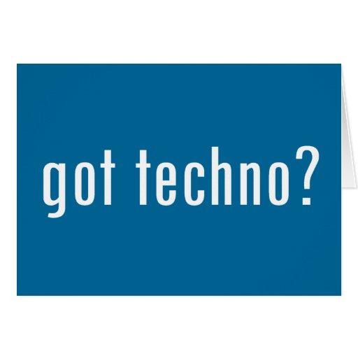 got techno? greeting card