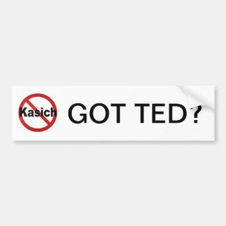 Got Ted? Anti Kasich bumpter sticker Car Bumper Sticker