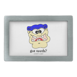 got teeth? belt buckle