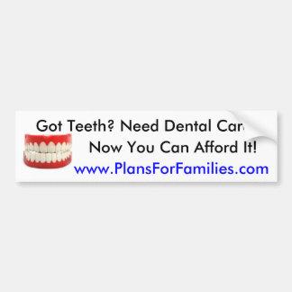 Got Teeth? Car Bumper Sticker