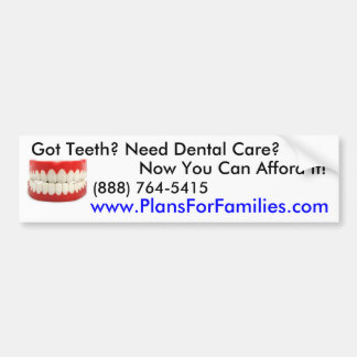 Got Teeth? - Customized Car Bumper Sticker