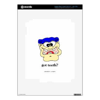 got teeth? decals for iPad 3