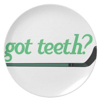 Got Teeth Dinner Plate