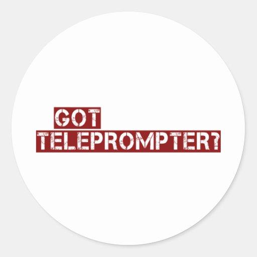 got teleprompter classic round sticker