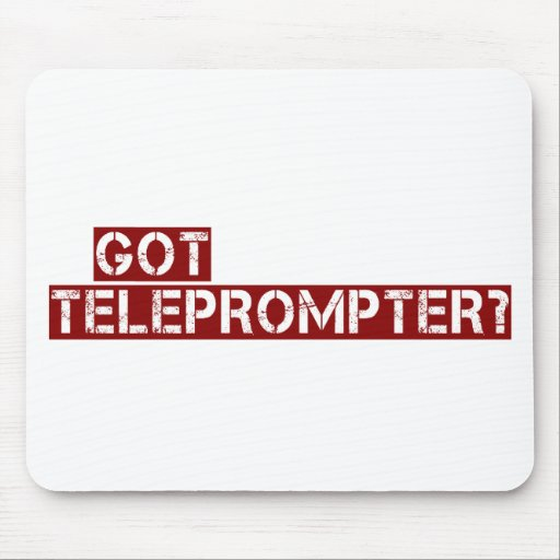 got teleprompter mouse pad