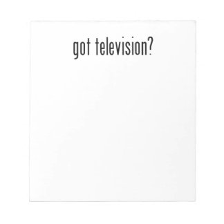 got television? memo pads