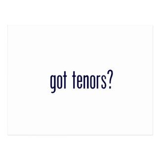 got tenors? postcard