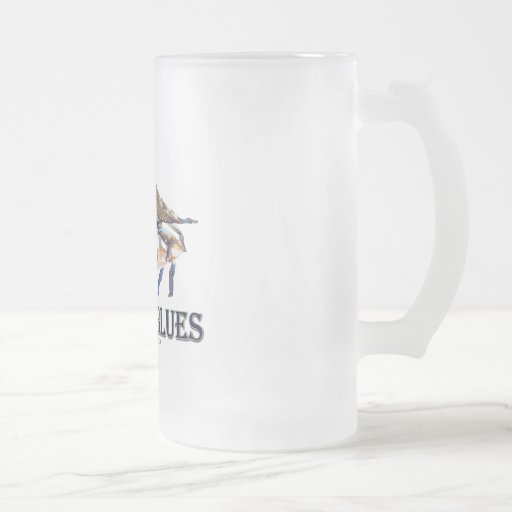 Got The Blues 16 Oz Frosted Glass Beer Mug