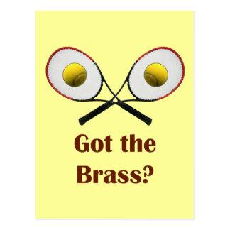 Got the Brass Tennis Postcard