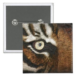 Got the eye of the tiger (Metallic Imprint) Pinback Button