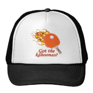 Got The Kahoonas Flaming Ping Pong Trucker Hat