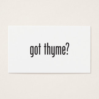 got thyme business card