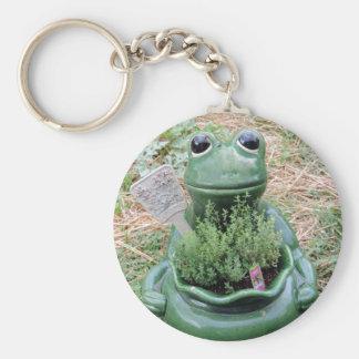 Got Thyme Frog Herbs Garden Photo Design Key Chain