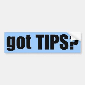 got TIPS? Bumper Sticker