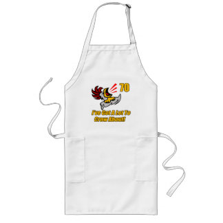 Got To Crow 70th Birthday Gifts Long Apron