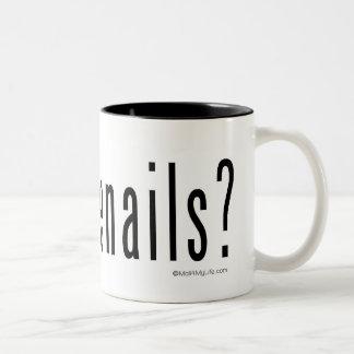 Got toenails? Two-Tone coffee mug