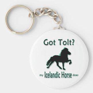 Got Tolt? My Icelandic Horse Does Basic Round Button Keychain