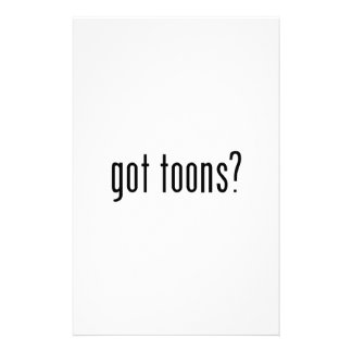 got toons? stationery