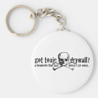 Got Toxic Drywall? Basic Round Button Keychain