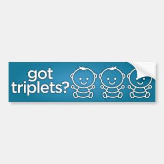 Got Triplets? Boy Triplets Bumper Sticker