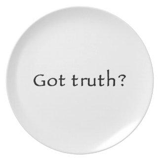 Got truth? plates