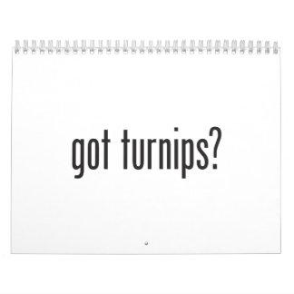 got turnips calendar