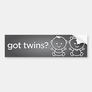 Got Twins? Boy Girl Twin Bumper Sticker