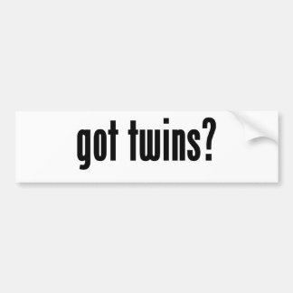 got twins? bumper sticker