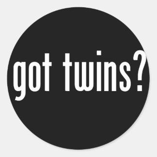 got twins? classic round sticker