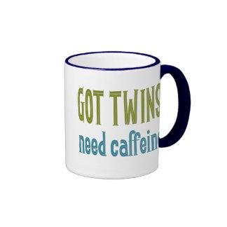 GOT TWINS need caffeine Ringer Coffee Mug