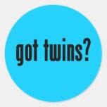 got twins? round sticker