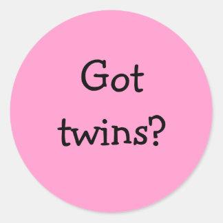 Got twins? sticker pink