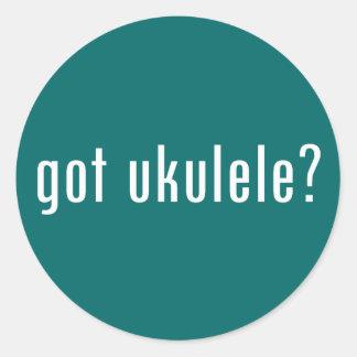 got ukulele? round sticker