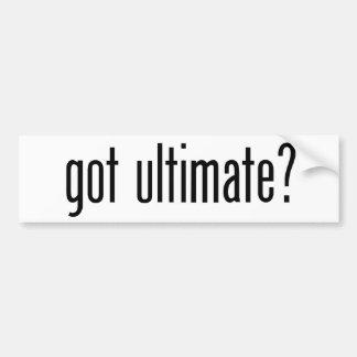 got ultimate? car bumper sticker