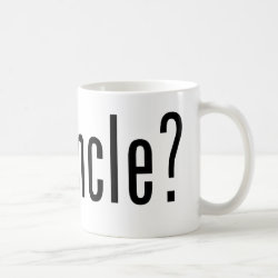 Classic White Mug with got uncle? design