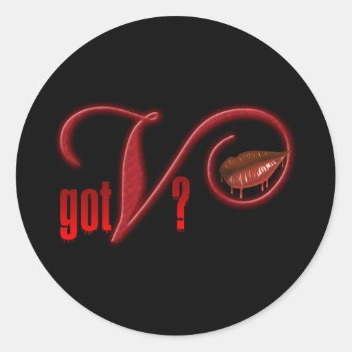 Got V - Vampire Blood Classic Round Sticker