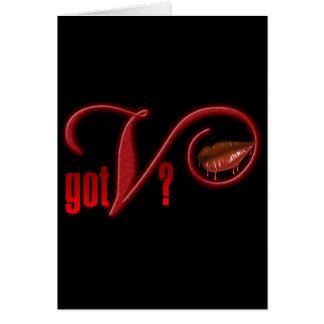 Got V - Vampire Blood Greeting Card